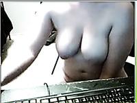 My chubby friend masturbates with a dildo when we chat