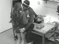 Cute brunette slut blows dick and fucks her boyfriend
