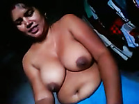 This Indian MILF is one chubby skank with big tits and she is a dick worshipper