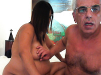 My sexy pregnant wife sucks my aged hard dick with desire