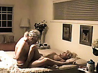 Mature man fucked his really voracious for orgasm wife missionary style