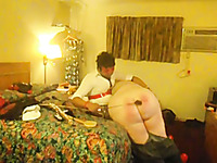 Horny black master spanking my big booty in amateur BDSM clip