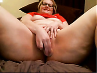 White ginger BBW lady with gigantic breasts and fat booty