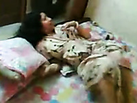 Indian MILF with big boobies fucked bad in a missionary position