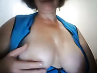 Nasty BBW housewife fingering her vagina in front of camera