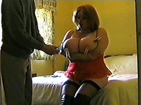 Brutal punishing my BBW wife and her giant F cup tits with bondage
