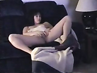 I found this hidden camera video of my wife masturbating on the couch