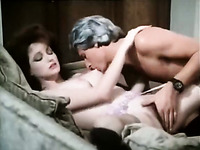 Sweet pale skin classic redhead bitch rides her fuck friend at home