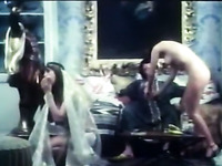 Two dirty white bitches trying to dance Arabic belly dance and seduce a man