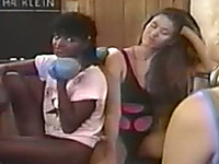 Cute and sexy vintage girls love weightlifting and lesbian sex