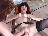 Redhead pale skin milf fisting her brunette girlfriend