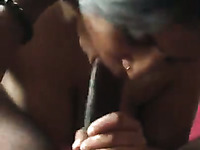 Cute exotic GF blows big dick and then rides big shaft in reverse cowgirl pose