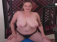 Delicous brunette with fat booty and huge knockers