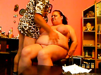 Blindfolded chubby bitch got treated in a weird and hard way