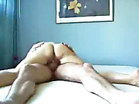 Strong and hefty wife riding my dick in a cowgirl position