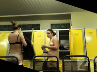 Spy cam in the locker room caught some nice nude ladies dressing up