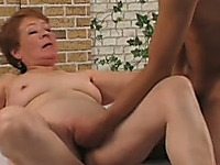 Chunky white redhead housewife toyed and fucked by young man