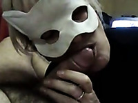 Nasty mature slut with big boobs sucking hard dick in POV video