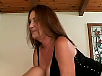 Redhead hot milf housewife seduced young man for quickie in the afternoon