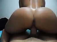 Sizzling girl riding hard dick in reverse cowgirl position