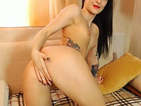Horny Chick Masturbating so Hot on Cam