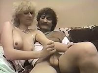 Busty pale skin German blondie eating big dick on the bed