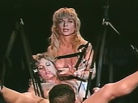 Hot and horny blonde milf likes to watch BDSM action closeup
