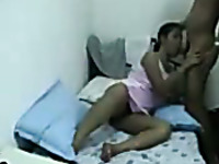 Amateur Indian couple was spooning and having great time while fucking
