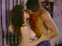 Sexy brunette vintage beauty fingered and fucked from behind