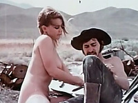 Sweet and adorable white young chick blowing dick of her hillbilly boyfriend