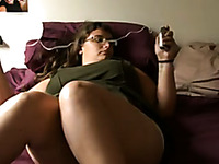 Huge boobed MILF toying herself passionately in arousing solo  video