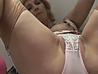 Slutty neighbor housewife shows me her lady parts in the kitchen