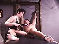 Extreme dick tortures of my hubby with lots of torture devices