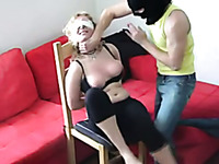 Tormenting busty blonde girl in dirty amateur BDSM video