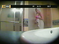 Spy cam video made in the bathroom while my ex-wife was washing