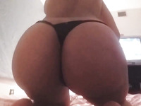 Perfectly shaped girlfriend showing her big booty in amateur video