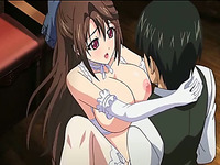 My fave anime porn clip with juggy maid getting fucked by the master
