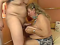 This German granny loves to fuck and she loves having her tits touched