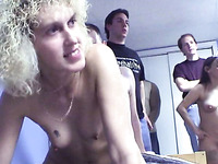 Couple of skanky amateur ladies share one dick in FFM threesome