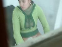 Short haired brunette white chick getting regular medical examination