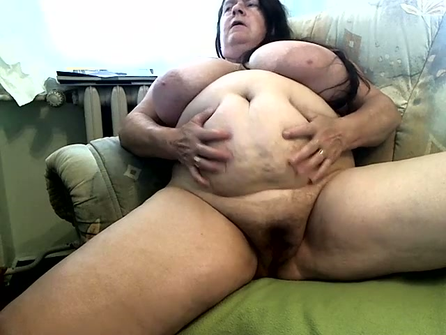 Mature Ugly As Shit Brunette Fatso Plays With Her Enormous -5627
