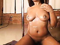 Sexy black girl loves showing off her naked body and I want to eat her all up