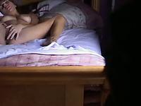 Hidden cam in the bedroom of my girlfriend caught her