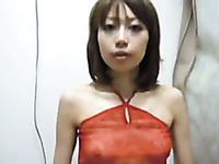 Amateur Japanese girlfriend stripteases and enjoys riding cock