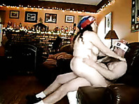 Chubby husband and fat wife fucks doggy and  cowgirl styles