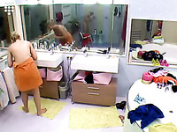 18 yo blonde babe got caught naked on a hidden camera installed in her room