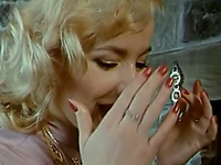 Busty and delicious blonde vintage babe seduced and screwed