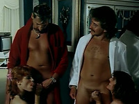Three horny and hot white sluts sharing one man in the bathtub
