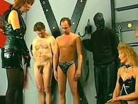 Cock loving wicked European milfs and submissive naked men