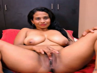 Well stacked Latina webcam model with a big ass masturbates like a porn star